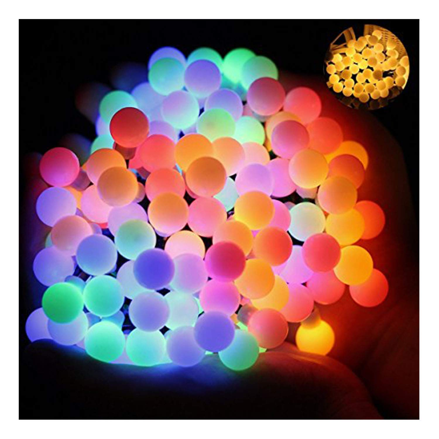 Picture of: 17ft 60 Led Waterproof Color Changing Globe String Lights For Outdoor Christmas Lights