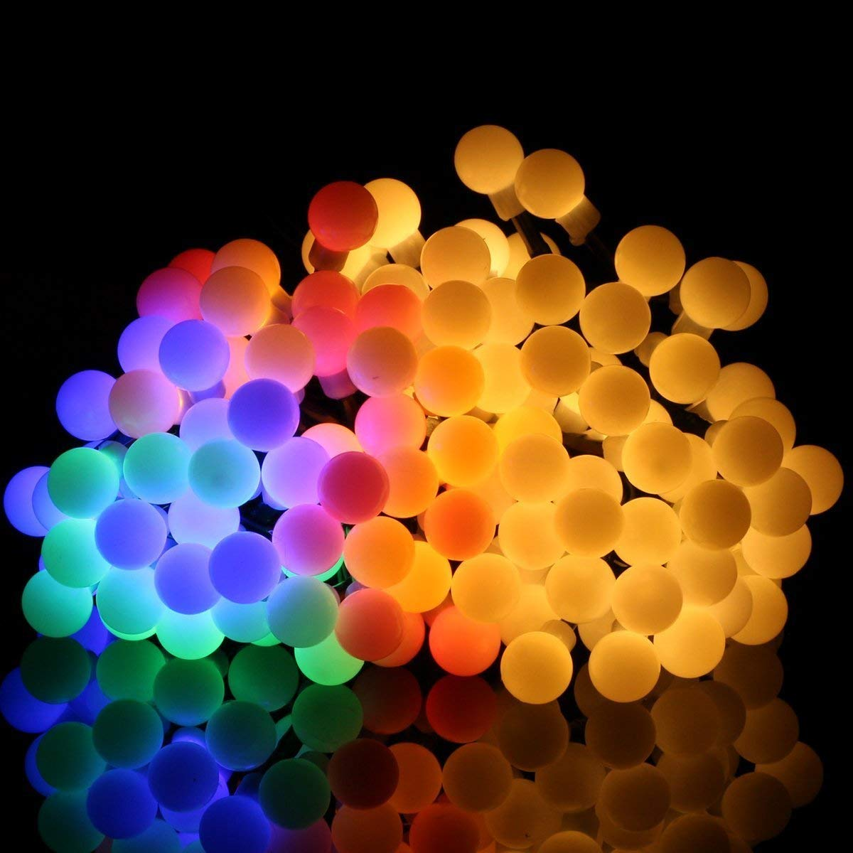 17ft 60 Led Waterproof Color Changing Globe String Lights For Outdoor Christmas Lights